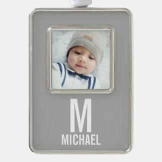 Kundenspezifisches Foto Rahmen-Ornament Silber