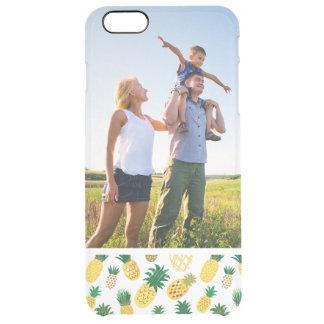 Kundenspezifisches Foto-Trendy Ananas-Muster Durchsichtige iPhone 6 Plus Hülle