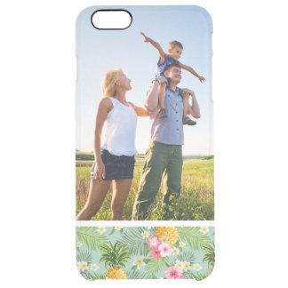 Kundenspezifisches Foto-tropische Blumen u. Ananas Durchsichtige iPhone 6 Plus Hülle