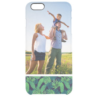 Kundenspezifisches Foto-tropisches Blätter-Muster Durchsichtige iPhone 6 Plus Hülle