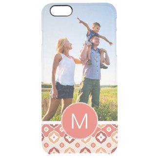 Kundenspezifisches Foto u. Monogramm goldenes Ikat Durchsichtige iPhone 6 Plus Hülle