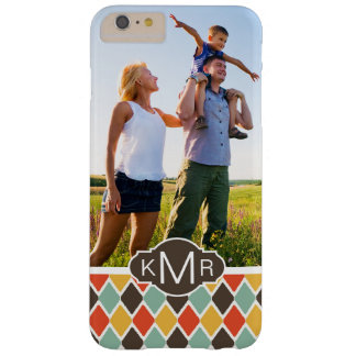Kundenspezifisches Foto u. Monogramm modernes ikat Barely There iPhone 6 Plus Hülle