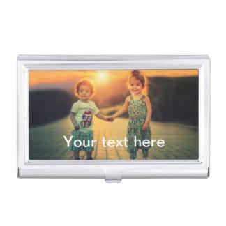 Kundenspezifisches Foto und Text Visitenkarten Dose