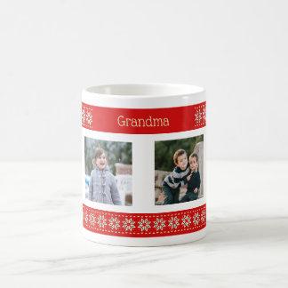 Kundenspezifisches Foto-Weihnachtsmuster des Kaffeetasse