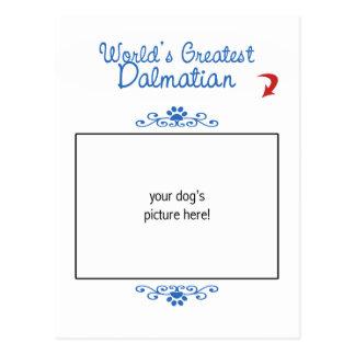 Kundenspezifisches Foto! Weltbester Dalmatiner Postkarte