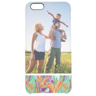 Kundenspezifisches Fotostrelitzia-Muster Durchsichtige iPhone 6 Plus Hülle