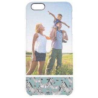 Kundenspezifisches Fotozebra-Muster Durchsichtige iPhone 6 Plus Hülle