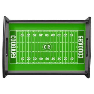 Kundenspezifisches Fußball-Party-Serviertablett Tablett