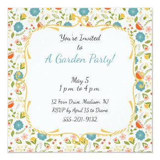 Kundenspezifisches Garten-Party blühte Einladung