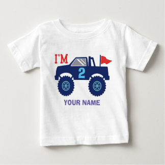 Kundenspezifisches Geburtstags-Monster-LKW-Alter Baby T-shirt