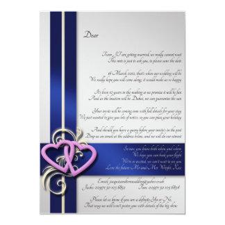 Kundenspezifisches Gedicht Save the Date 12,7 X 17,8 Cm Einladungskarte
