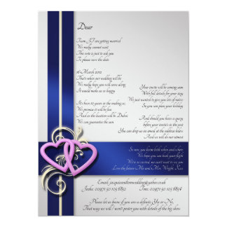 Kundenspezifisches Gedicht Save the Date 14 X 19,5 Cm Einladungskarte