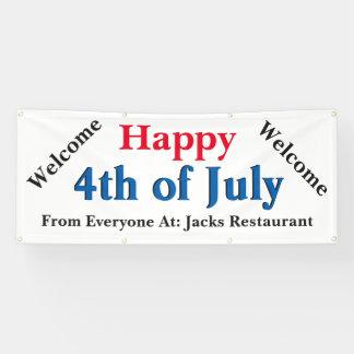 Kundenspezifisches glückliches 4. von Juli-Anzeige Banner