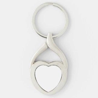 Kundenspezifisches Herz Keychain Silberfarbener Herz Schlüsselanhänger
