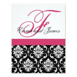 Kundenspezifisches Hochzeits-Einladungs-Monogramm 10,8 X 14 Cm Einladungskarte