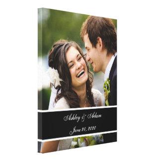 Kundenspezifisches Hochzeits-Foto-personalisiertes Gespannte Galeriedrucke