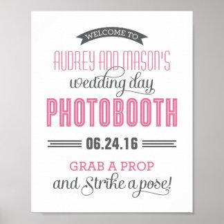 Kundenspezifisches Hochzeits-Foto-Stand-Zeichen | Poster