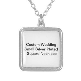 Kundenspezifisches Hochzeits-kleines Silber Halskette Mit Quadratischem Anhänger