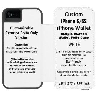 Kundenspezifisches iPhone 5/5S Watson™ Incipio Watson™ iPhone 5 Geldbörsen Hülle