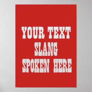 Kundenspezifisches Jargonplakat Poster