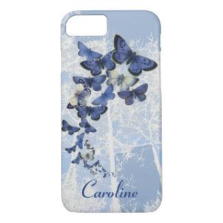 Kundenspezifisches Kaleidoskop der blauen iPhone 7 Hülle