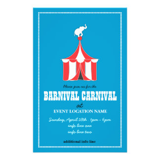 KUNDENSPEZIFISCHES Karnevals-Ereignis-Flyer BLAU 14 X 21,6 Cm Flyer