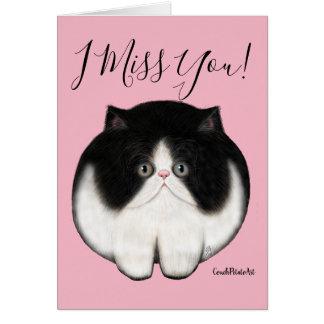 Kundenspezifisches Katzen-Kätzchen-persische Karte