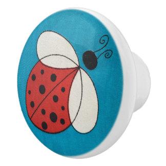 Kundenspezifisches Keramik-Griff-/ladybug-Bild Keramikknauf