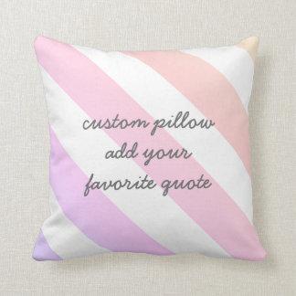 kundenspezifisches Kissen addieren Ihr Zitatrosa