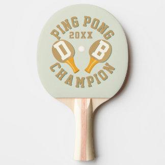 Kundenspezifisches Klingeln Pong Meister-Paddel Tischtennis Schläger