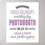 Kundenspezifisches lila Grau des Hochzeits-Foto-St