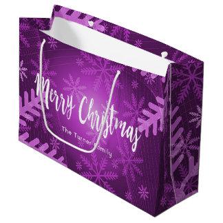 Kundenspezifisches lila und weißes Weihnachten mit Große Geschenktüte