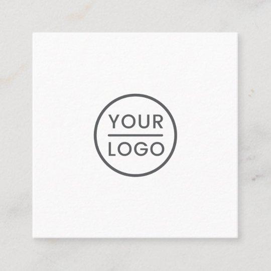 Kundenspezifisches Logo Weiß Quadrat Beruflich