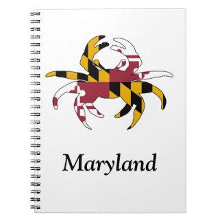 Kundenspezifisches Maryland-Krabben-Notizbuch Notizblock