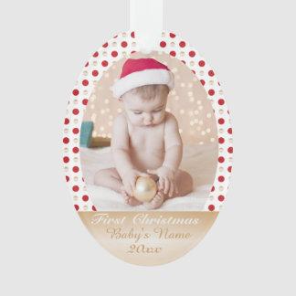 Kundenspezifisches memorie Foto Ihres Babys erstes Ornament