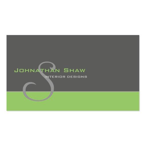 Kundenspezifisches Monogramm 1 Visitenkartenvorlagen