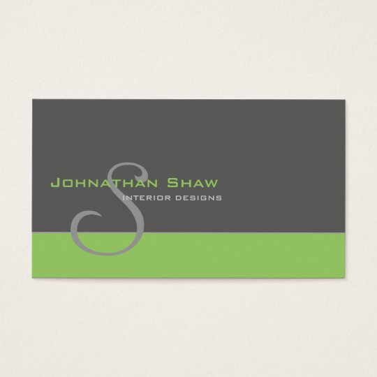 Kundenspezifisches Monogramm 1 Visitenkarte