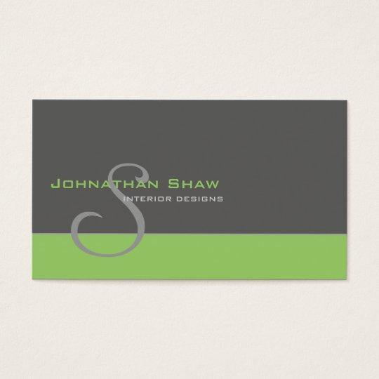 Kundenspezifisches Monogramm 1 Visitenkarten