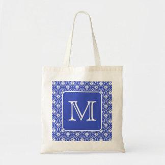 Kundenspezifisches Monogramm, auf blauem und weiße Einkaufstasche