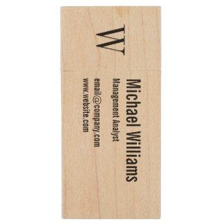 Kundenspezifisches Monogramm-beruflicher Holz USB Stick 2.0
