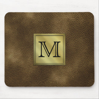 Kundenspezifisches Monogramm-Druckbild. Brown Mousepads