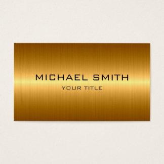 Kundenspezifisches Monogramm-GoldEdelstahl-Metall Visitenkarte