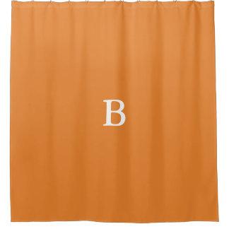 Kundenspezifisches Monogramm-orange Duschvorhang