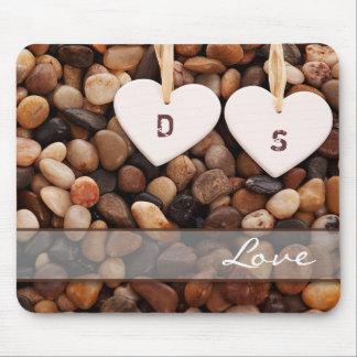 Kundenspezifisches Monogramm-Valentinstag-Geschenk Mousepads