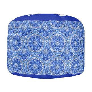 Kundenspezifisches Monogramm weimaraner blauer Hocker