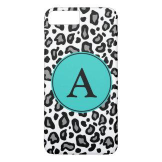 Kundenspezifisches Monogramm-weißes Leopard iPhone iPhone 8 Plus/7 Plus Hülle