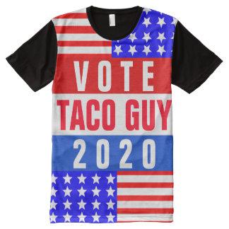 Kundenspezifisches patriotisches Wahl-T-Stück T-Shirt Mit Komplett Bedruckbarer Vorderseite