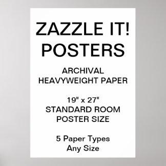 """Kundenspezifisches personalisiertes 19"""""""" poster"""