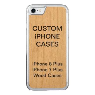 Kundenspezifisches personalisiertes hölzernes carved iPhone 8/7 hülle