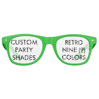 Kundenspezifisches personalisiertes Retro Party Partybrille